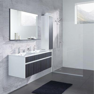 Badezimmer Massimo   Dunkelgrau/Weiß, MODERN, Glas/Keramik   MÖMAX Modern  Living