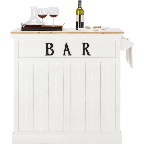 bartisch in wei aus echtholz online kaufen m max. Black Bedroom Furniture Sets. Home Design Ideas