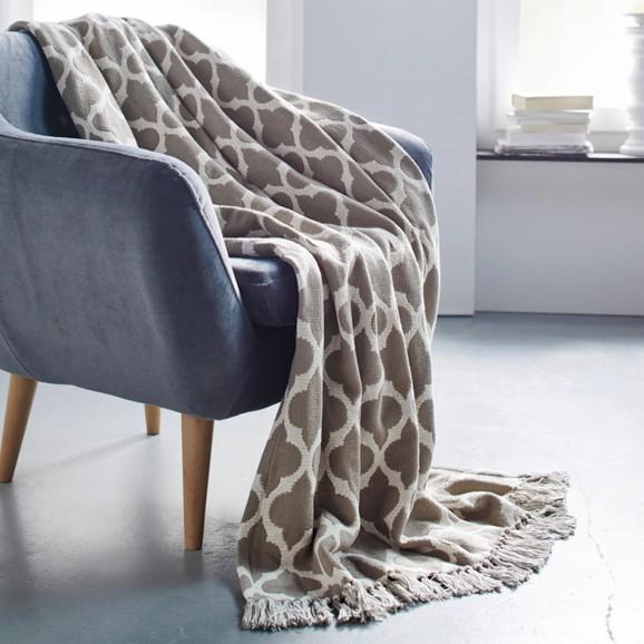baumwolldecke ornament 130x170cm online kaufen m max. Black Bedroom Furniture Sets. Home Design Ideas