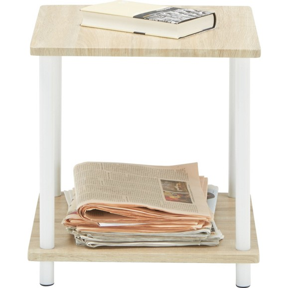 beistelltisch in eiche wei lackiert online kaufen m max. Black Bedroom Furniture Sets. Home Design Ideas