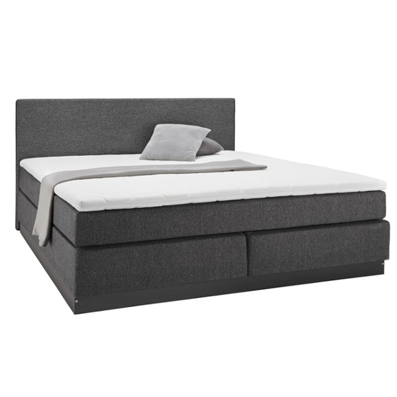 boxspringbett in grau ca 140x200cm online kaufen m max. Black Bedroom Furniture Sets. Home Design Ideas