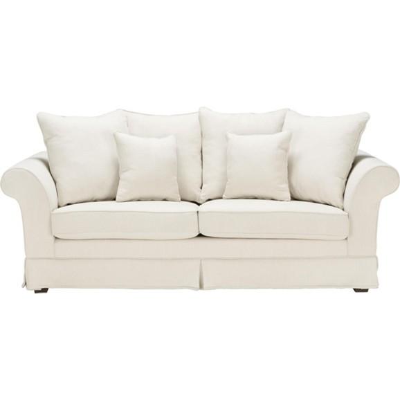 dreisitzer in beige mit zierkissen online kaufen m max. Black Bedroom Furniture Sets. Home Design Ideas