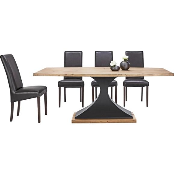 esstisch in schwarz akaziefarben online kaufen m max. Black Bedroom Furniture Sets. Home Design Ideas