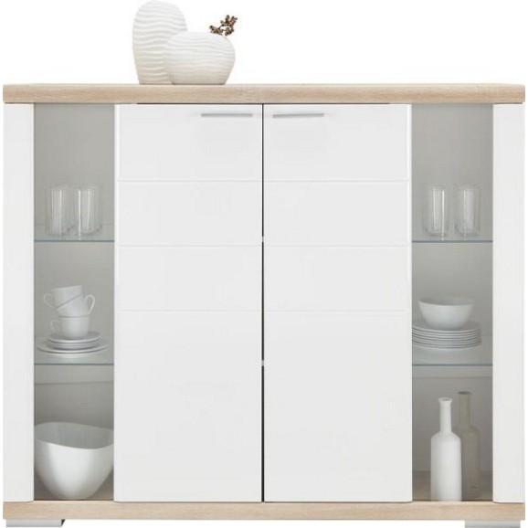 highboard in wei sonoma eiche online kaufen m max. Black Bedroom Furniture Sets. Home Design Ideas