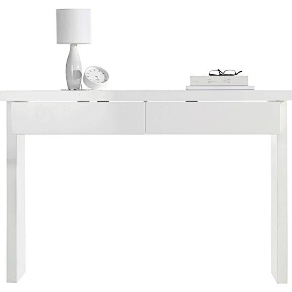 konsolentisch in polarwei hochglanz online kaufen m max. Black Bedroom Furniture Sets. Home Design Ideas