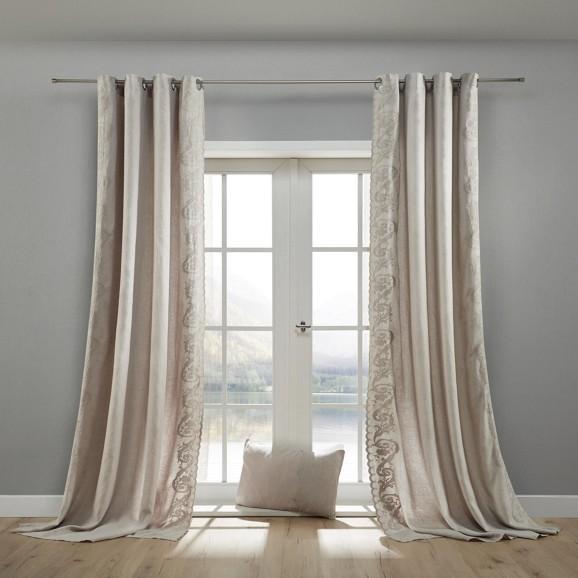 leinenvorhang nele 140x245cm online kaufen m max. Black Bedroom Furniture Sets. Home Design Ideas