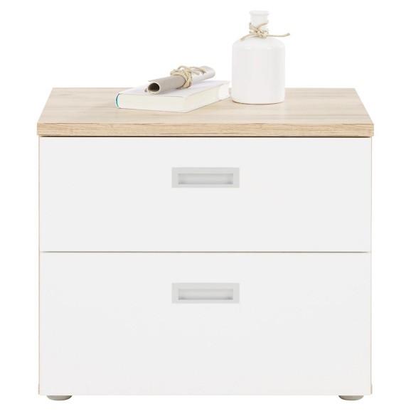 nachtk stchen in eiche wei online kaufen m max. Black Bedroom Furniture Sets. Home Design Ideas