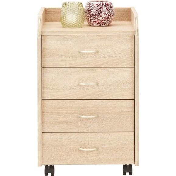 rollcontainer in sonoma eiche online kaufen m max. Black Bedroom Furniture Sets. Home Design Ideas