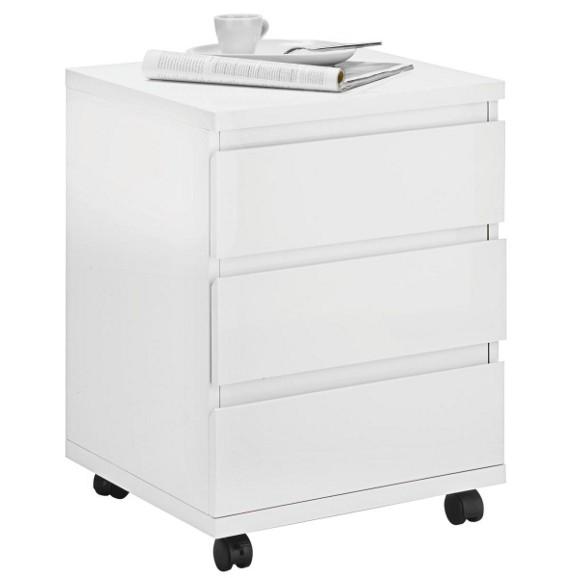 rollcontainer in wei hochglanz online kaufen m max. Black Bedroom Furniture Sets. Home Design Ideas