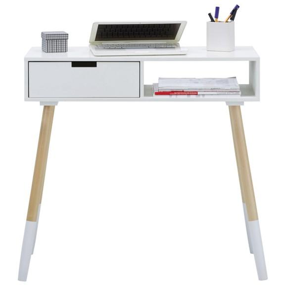 schreibtisch holz wei. Black Bedroom Furniture Sets. Home Design Ideas