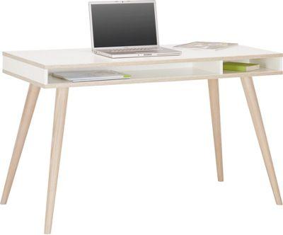 Schreibtisch In Weiß Aus Holz Online Kaufen ➤ Mömax