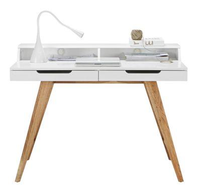 Schreibtisch In Weiß/Braun Online Kaufen ➤ Mömax
