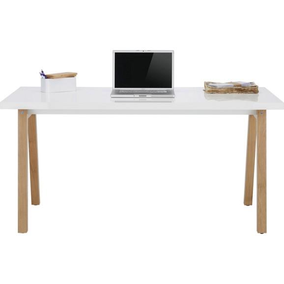 Schreibtisch In Weiß/Eichefarben Online Kaufen Mömax
