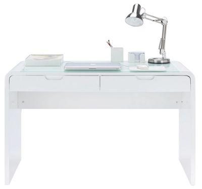 Schreibtisch Weiß Hochglanz Glas Schreibtisch In Weiß Hochglanz Online  Kaufen ➤ Mömax