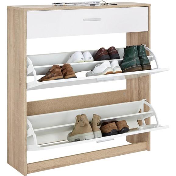 schuhschrank in eiche wei online kaufen m max. Black Bedroom Furniture Sets. Home Design Ideas