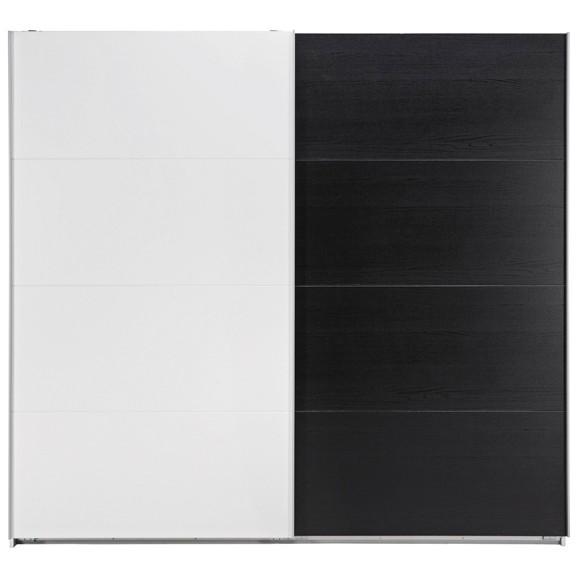 schrank schwarz wei. Black Bedroom Furniture Sets. Home Design Ideas