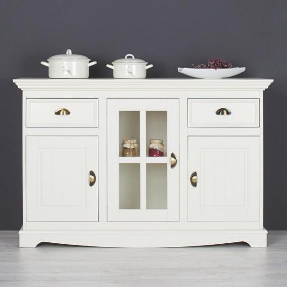 sideboard holz glas. Black Bedroom Furniture Sets. Home Design Ideas