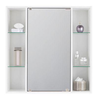 Spiegelschrank In Weiß Mit Spiegeltür   Weiß, Glas/Holz ...