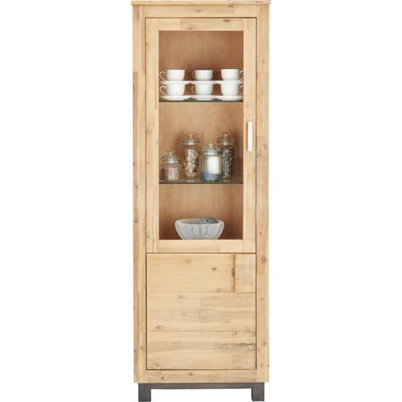 vitrine in akazie teilmassiv online kaufen m max. Black Bedroom Furniture Sets. Home Design Ideas