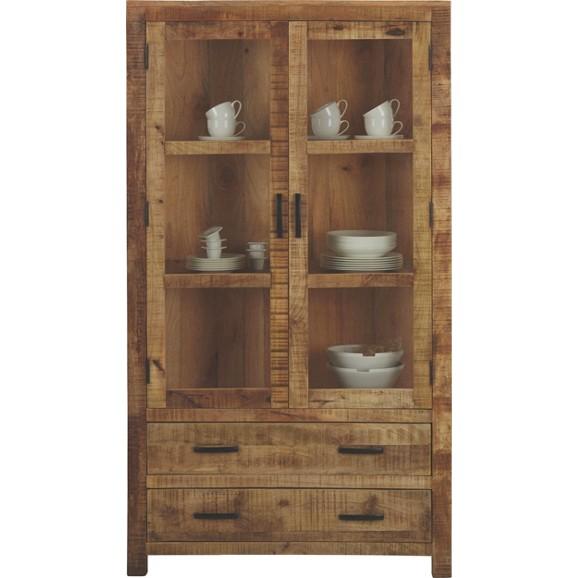 vitrine in braun aus mangoholz online kaufen m max. Black Bedroom Furniture Sets. Home Design Ideas