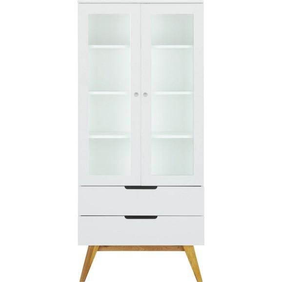 vitrine in wei braun online kaufen m max. Black Bedroom Furniture Sets. Home Design Ideas
