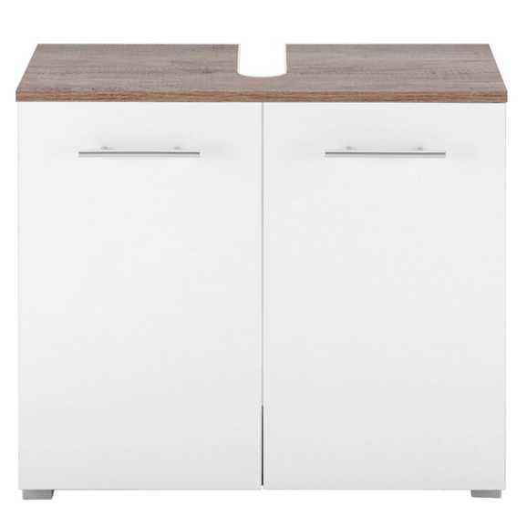 waschbeckenunterschrank in wei eiche online kaufen m max. Black Bedroom Furniture Sets. Home Design Ideas