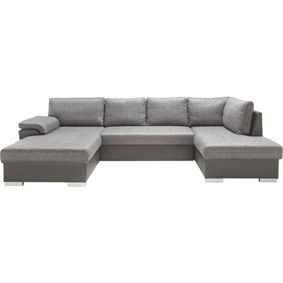 wohnlandschaft in grau online kaufen m max. Black Bedroom Furniture Sets. Home Design Ideas