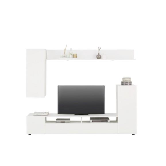 wohnwand in wei hochglanz online kaufen m max. Black Bedroom Furniture Sets. Home Design Ideas