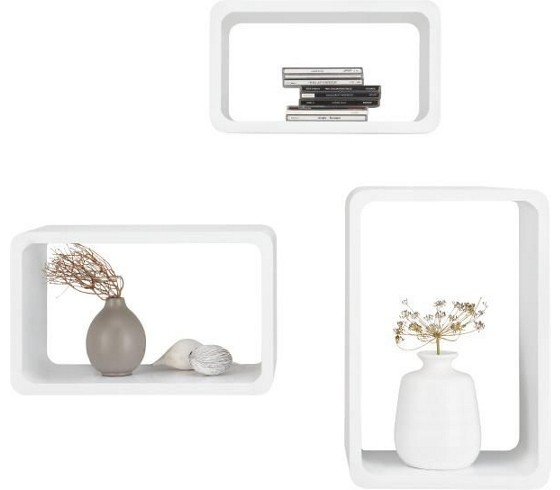 wandregal in wei hochglanz kommoden regale wohnzimmer produkte. Black Bedroom Furniture Sets. Home Design Ideas