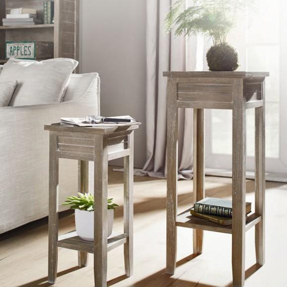 blumentisch savannah antik in naturbraun online kaufen m max. Black Bedroom Furniture Sets. Home Design Ideas