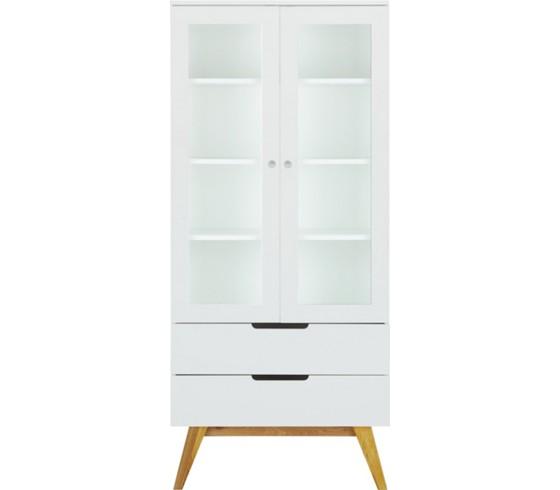 vitrine in wei braun vitrinen k chen esszimmer produkte. Black Bedroom Furniture Sets. Home Design Ideas