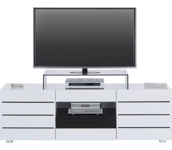 tv element slice in weiss schwarz mdf wohnw nde tv m bel wohnen produkte. Black Bedroom Furniture Sets. Home Design Ideas