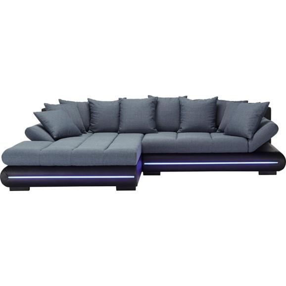 wohnlandschaft in schwarz mit beleuchtung online kaufen mmax - Modern Sofa Kaufen