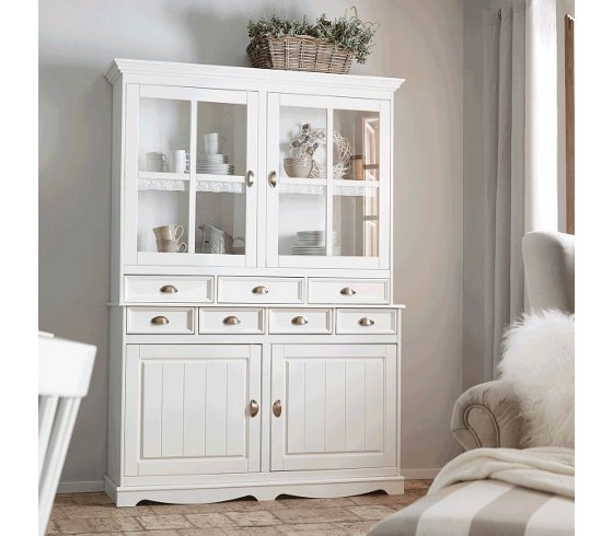 kredenz claudia aus kiefer in wei kleinm bel online only produkte. Black Bedroom Furniture Sets. Home Design Ideas