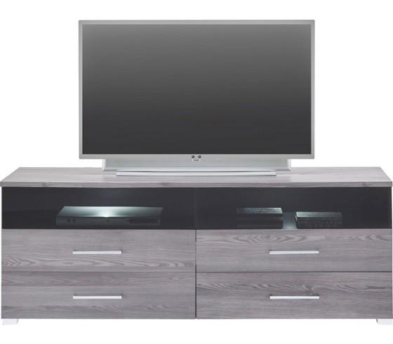 Tv element dark in l rche grau tv aufs tze wohnw nde for Wohnwand 4 eckig