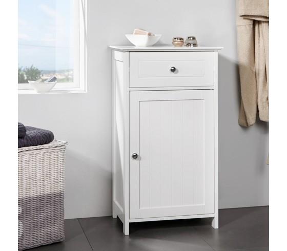 Badezimmerschrank Basic In Weiß