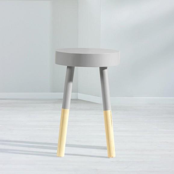 hocker frenzy style in grau und natur hocker hocker sessel wohnzimmer produkte. Black Bedroom Furniture Sets. Home Design Ideas