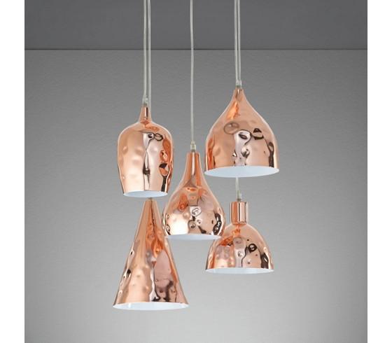 h ngeleuchte cascade aus metall in kupfer h ngeleuchten beleuchtung produkte. Black Bedroom Furniture Sets. Home Design Ideas