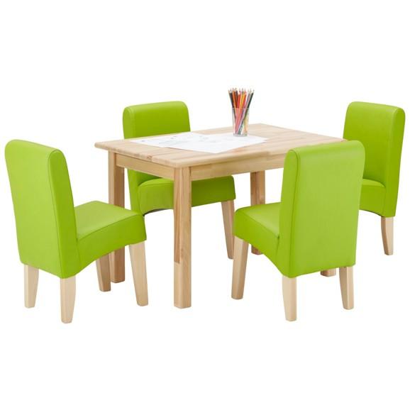 kindersitzgruppe in gr n und buche kinderzimmerm bel. Black Bedroom Furniture Sets. Home Design Ideas