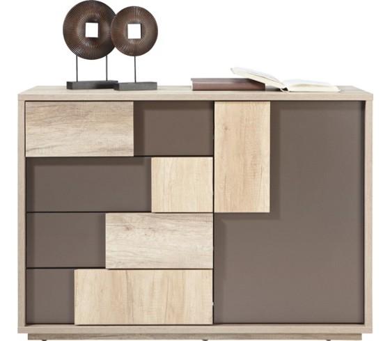 kommode in braun canyon grey kommoden kommoden. Black Bedroom Furniture Sets. Home Design Ideas