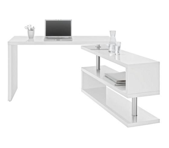 schreibtisch in wei hochglanz schreibtische b rom bel. Black Bedroom Furniture Sets. Home Design Ideas