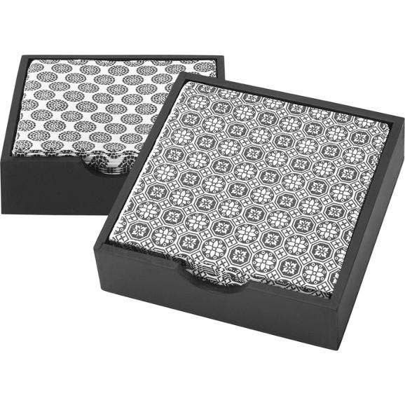 serviette shiva in schwarz wei kochtextilien k chentextilien heimtextilien teppiche. Black Bedroom Furniture Sets. Home Design Ideas