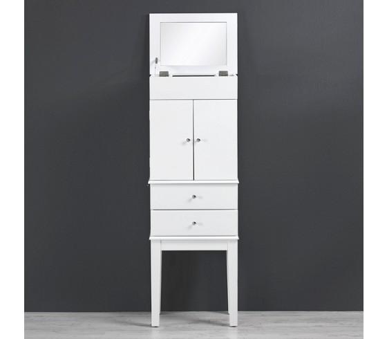 spiegelschrank jewel in wei mit schmuckaufbewahrung badezimmerschr nke badezimmerm bel. Black Bedroom Furniture Sets. Home Design Ideas