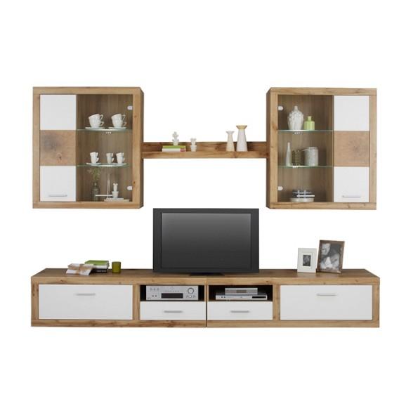 wohnwand in wei eiche online kaufen m max. Black Bedroom Furniture Sets. Home Design Ideas
