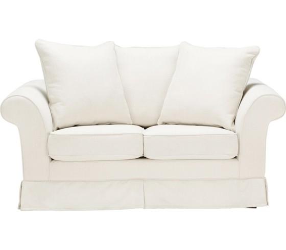 zweisitzer in beige mit zierkissen zweisitzer sofas polsterm bel wohnzimmer produkte. Black Bedroom Furniture Sets. Home Design Ideas