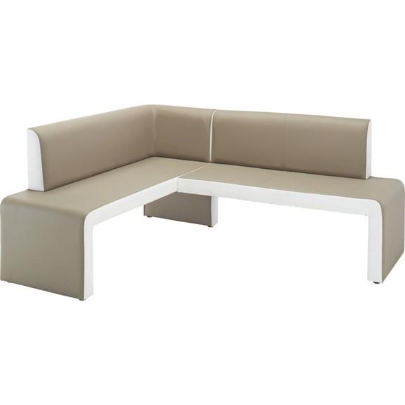 eckbank in schlamm wei online kaufen m max. Black Bedroom Furniture Sets. Home Design Ideas