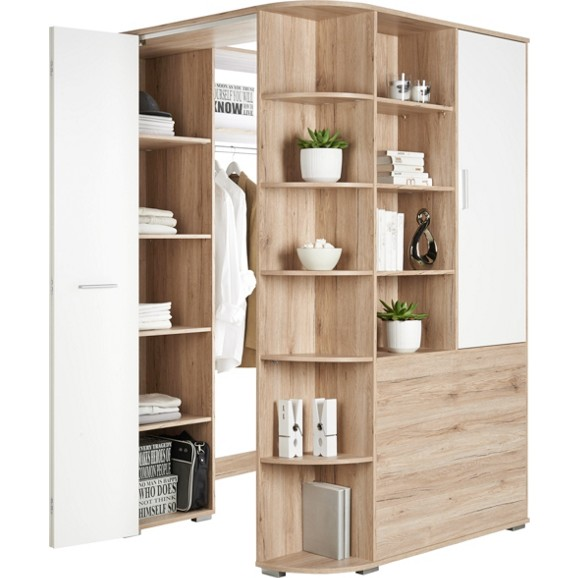 eckschrank in wei mit faltt r online kaufen m max. Black Bedroom Furniture Sets. Home Design Ideas