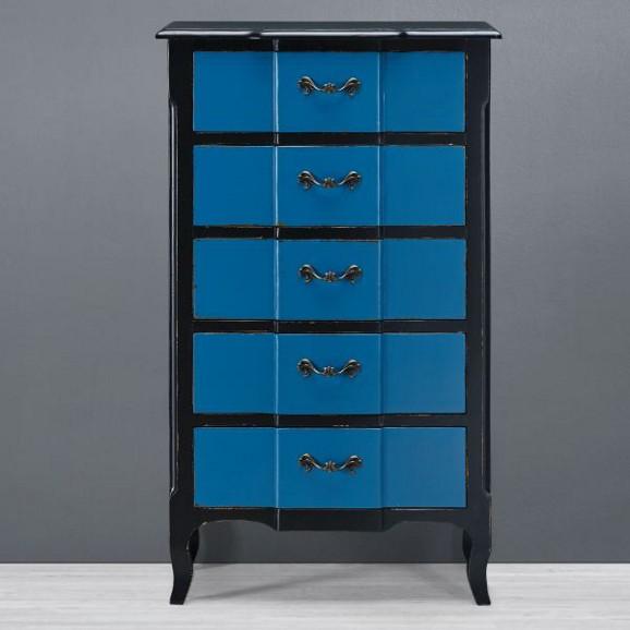 kommode liam cai in blau schwarz online kaufen m max. Black Bedroom Furniture Sets. Home Design Ideas