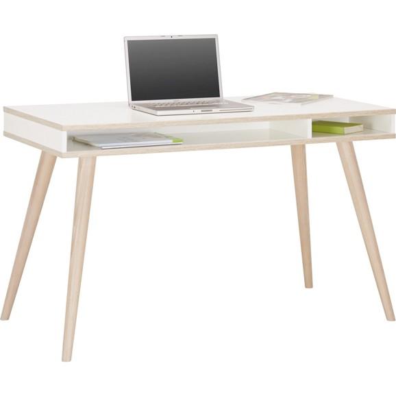 Schreibtisch in wei aus holz online kaufen m max for Schreibtisch holz modern