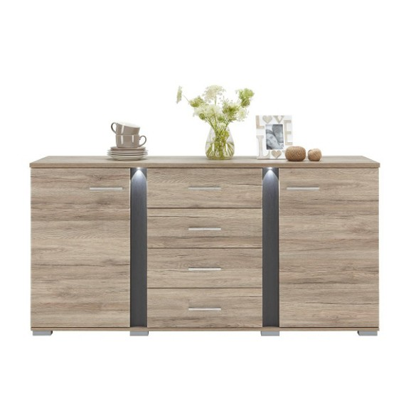 sideboard aus eiche online kaufen m max. Black Bedroom Furniture Sets. Home Design Ideas